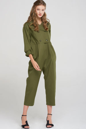 Kate Trench Jumpsuit