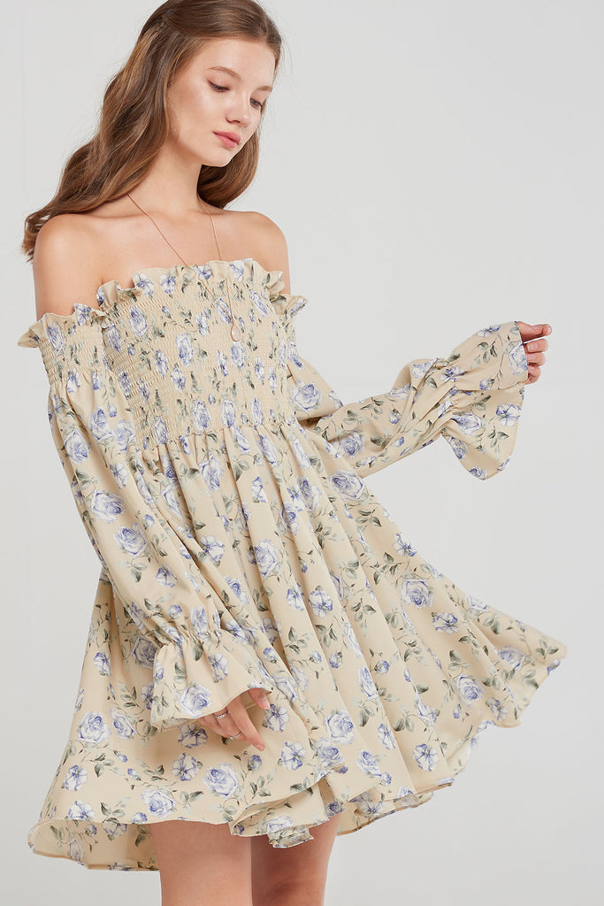 Shirley Off The Shoulder Dress-2 Colors
