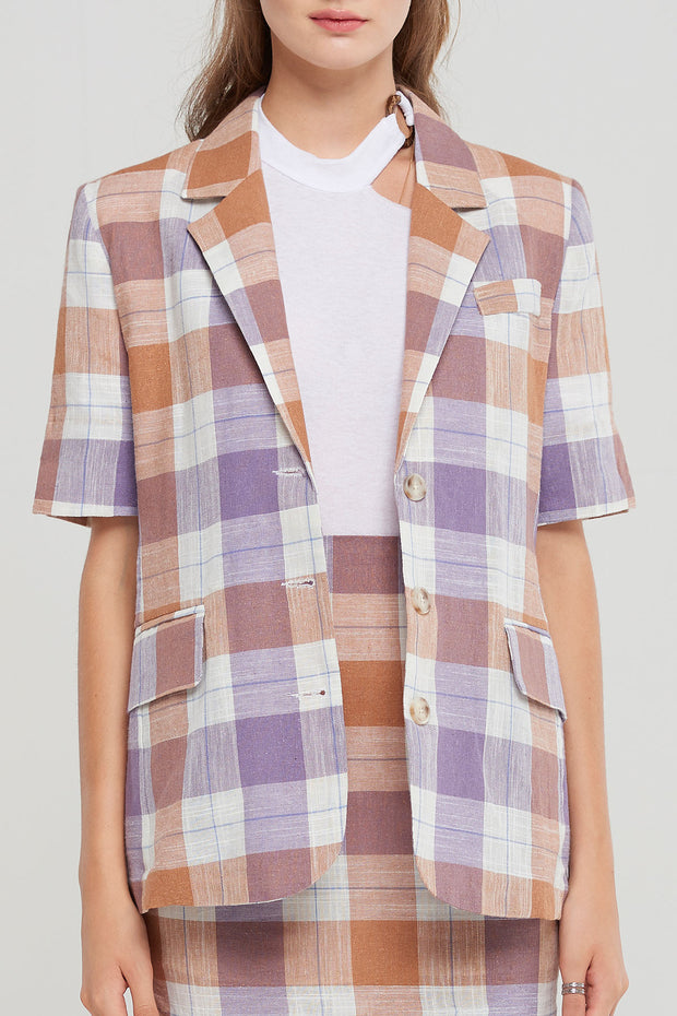 storets.com Karen Plaid Blazer-2 Colors