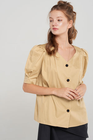 Ada Puffed Button Down