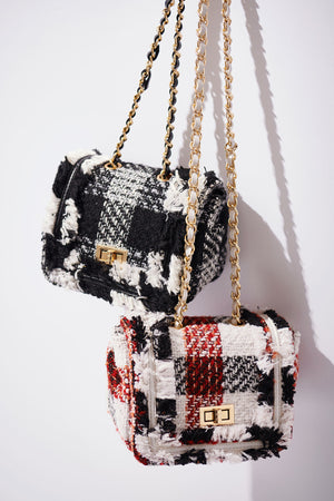 Tweed Mini Chain Bag-2 Colors