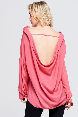 Emily Back Cut Out Shirt