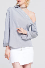 Catherine Button One Shoulder Top