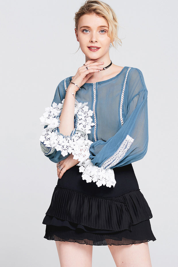 storets.com Emmy Lace Panel Cuff Top