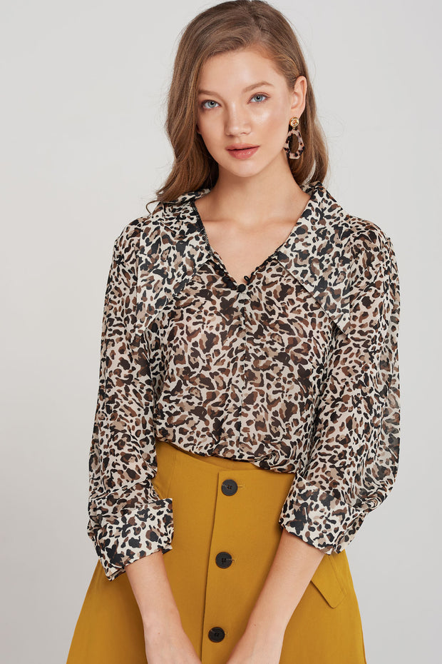 Kiri Relaxed Print Blouse