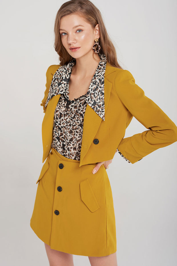 Berenice Button Jacket and Skirt Set