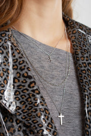 Layered Cross Necklaces-2 Colors
