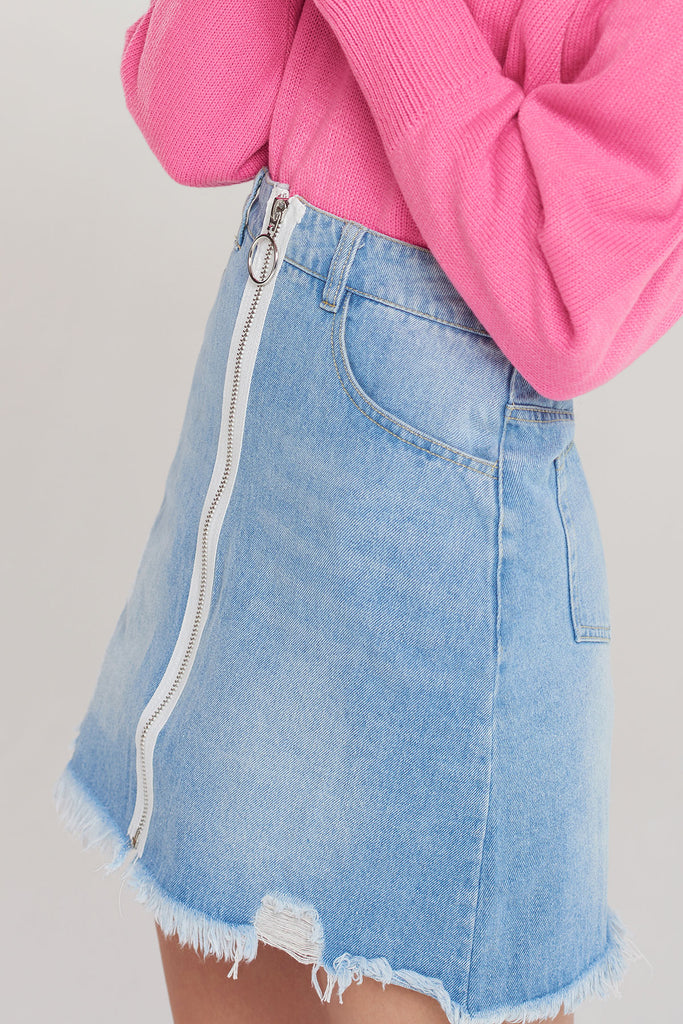 Camra Zipper Skirt
