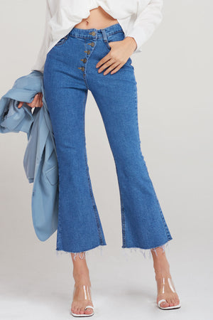 Betsy Curve Button Jeans