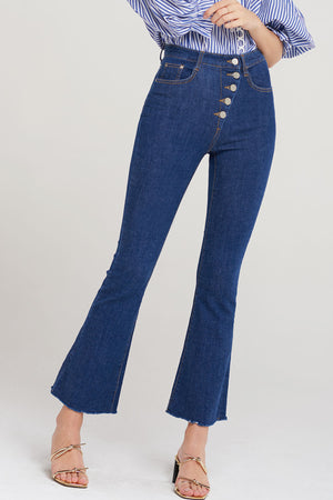 Marla Wide Leg Button Jeans