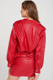 Winona Pleather Moto Jacket