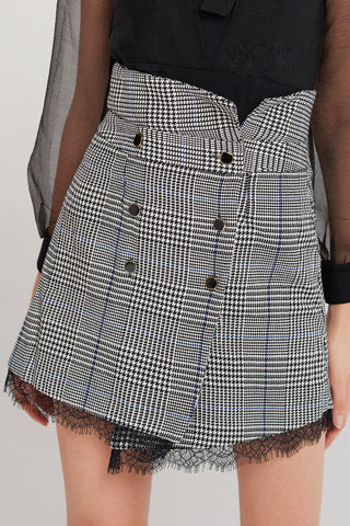 Perry Plaid Fold Over Skirt