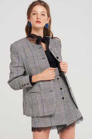 Perry Plaid Boxy Jacket