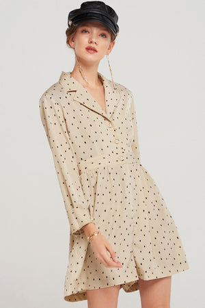 Noha Dotted Collar Romper-2 Colors