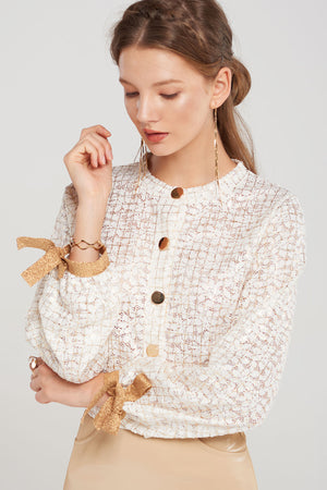 Brie Lace Grid Cardigan