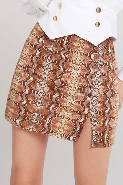 Lucky Snake Print Skirt-2 Colors