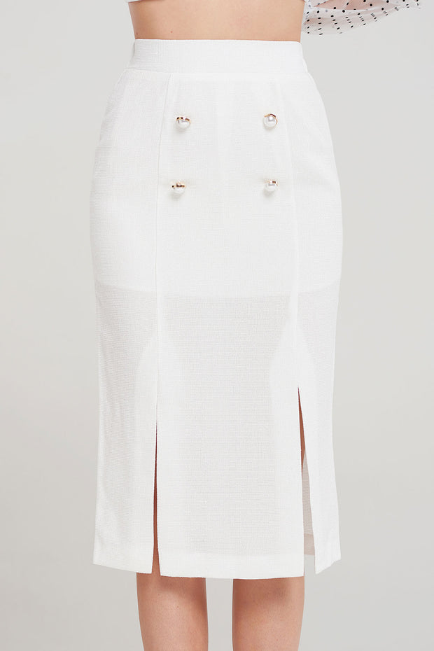 storets.com Jonie Double Button Skirt-2 Colors
