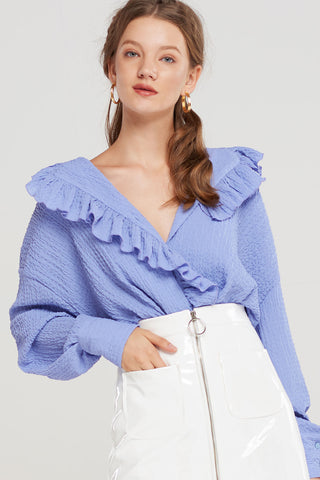 Sammy Ruffled Collar Blouse