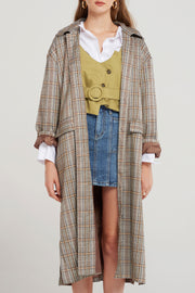 storets.com Charlie Plaid Slit Coat-2 Colors