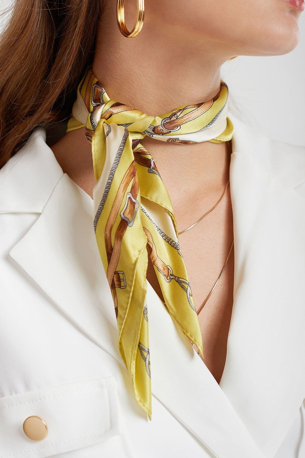 Green Silk Scarf
