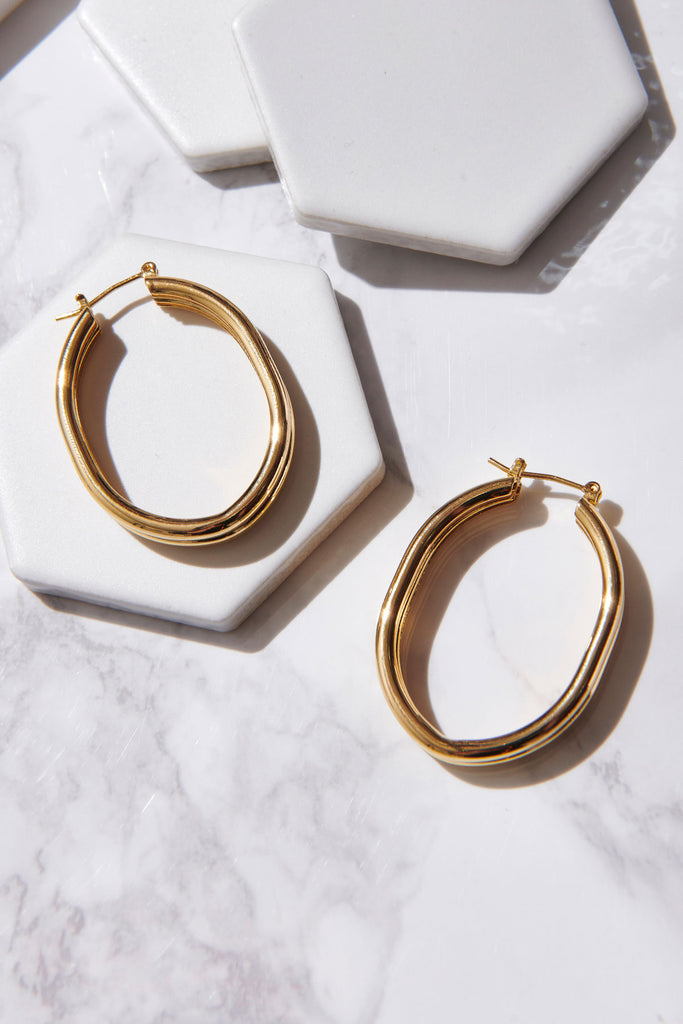Layered Gold Hoops