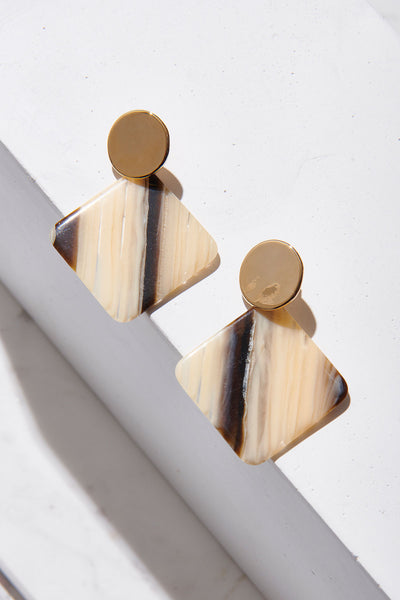 Marbled Geometric Earrings