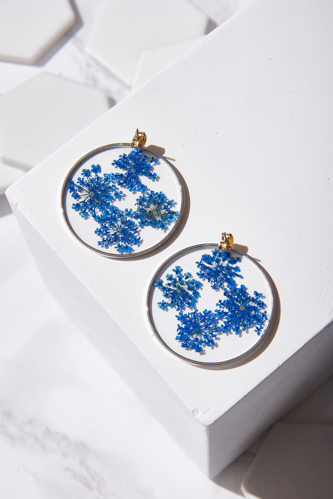 Flower Disk Earrings