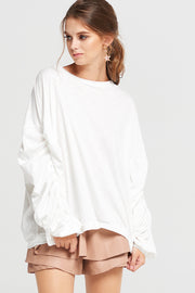 Camilla Shirred Sleeve Top