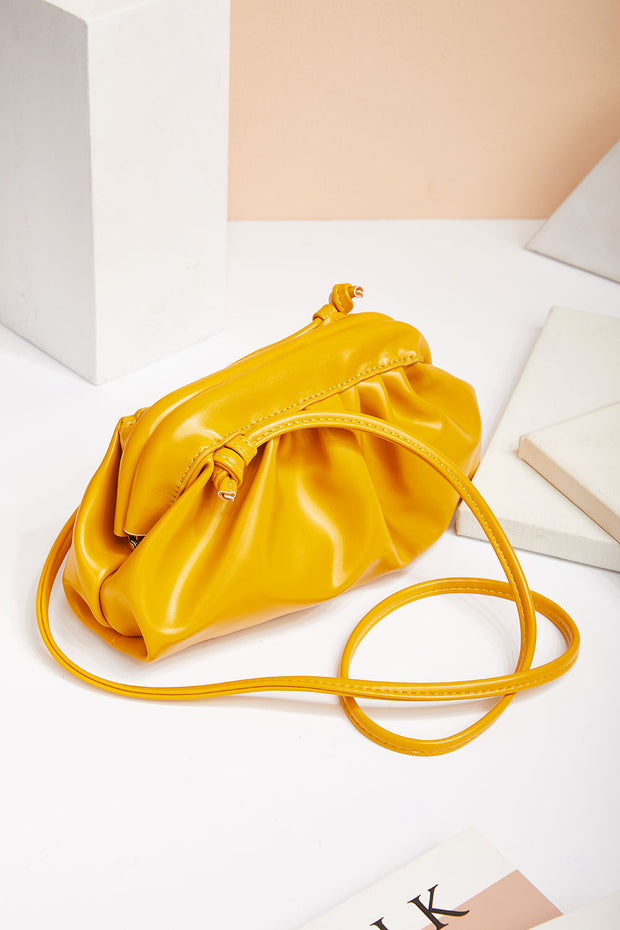 Shirring Detail Shoulder Bag