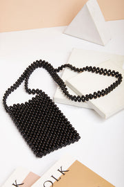 storets.com Black Pearl Beaded Bag