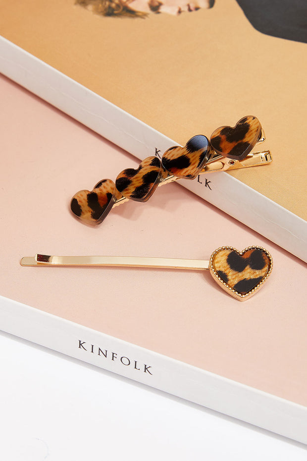 Leopard Sweetheart Hairpin Set