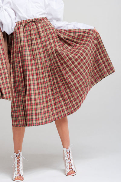 Sabrina Pleated Plaid Skirt