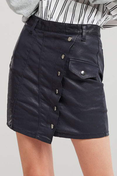 Monica Stitched Up Denim Skirt-2 Colors