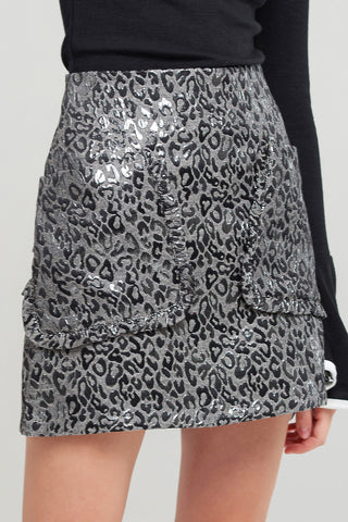 Nana Textured Print Skirt