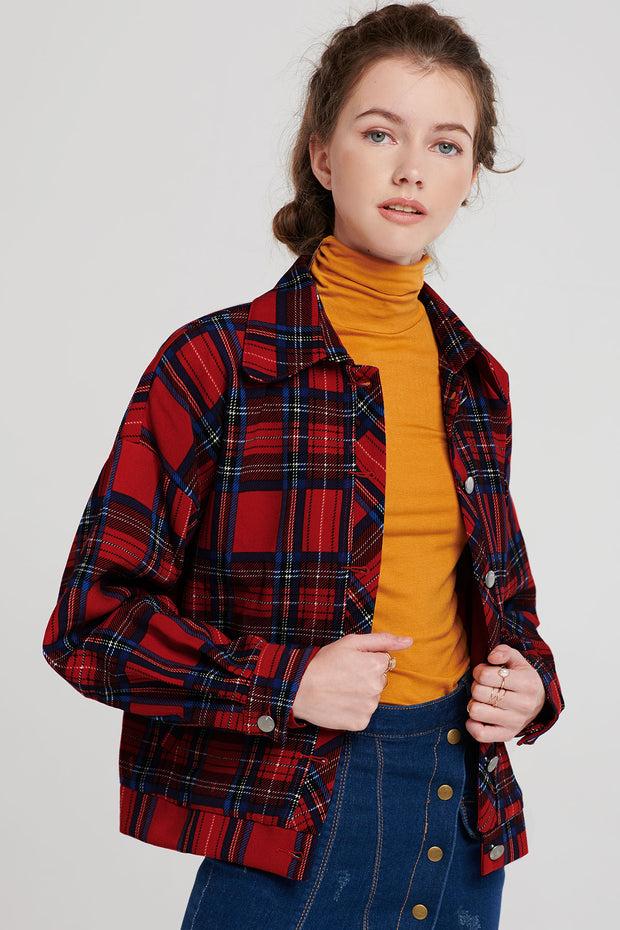 storets.com Juliet Boxy Plaid Jacket