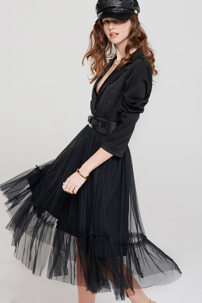 Josephine Collared Tulle Dress