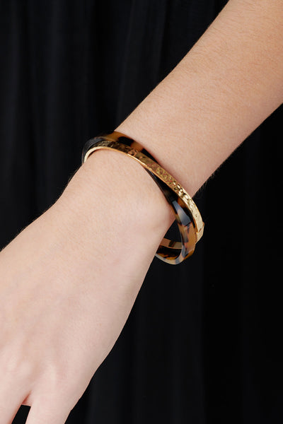 Crossed Thin Bangle
