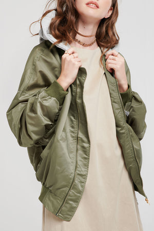Miriam Hooded Bomber Jacket