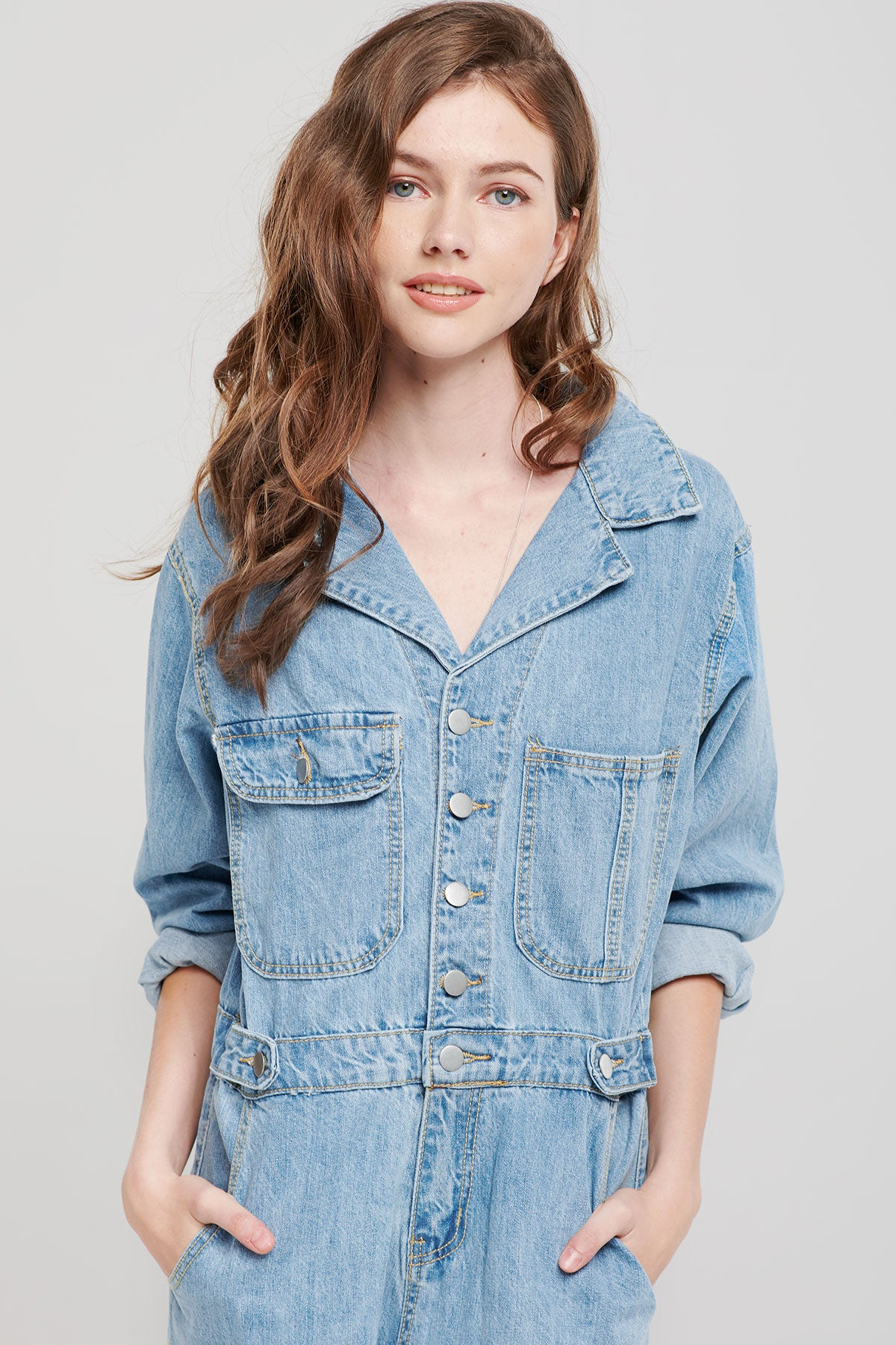 Selena Denim Jumpsuit