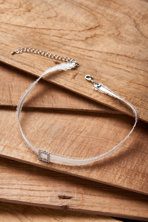 Square Ribbon Choker
