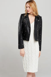 Sandra Star Studded Biker Jacket