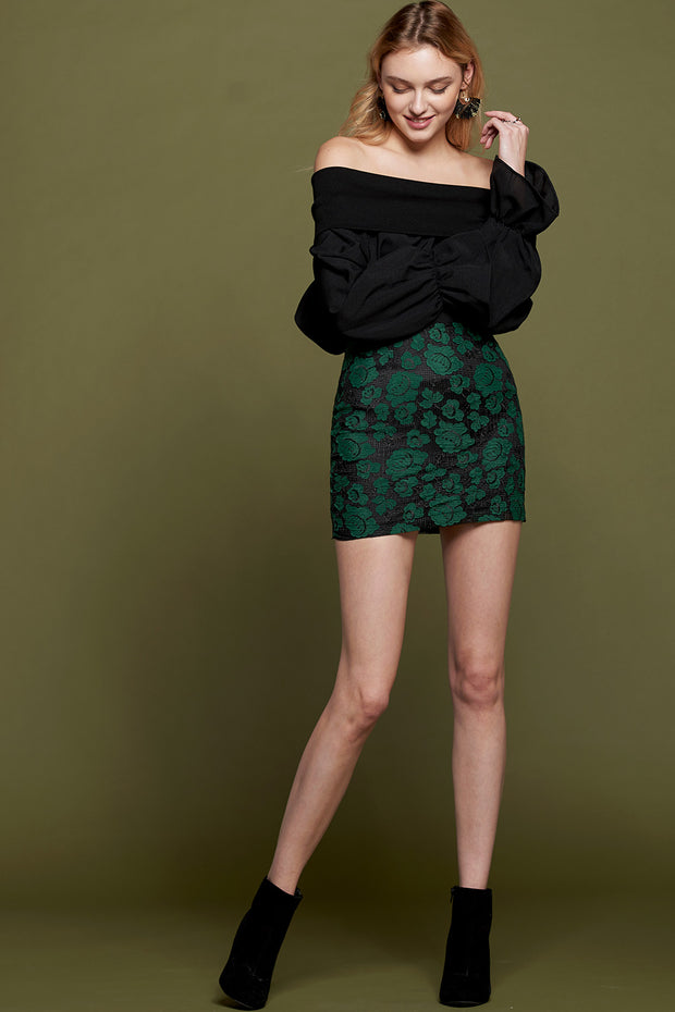 storets.com Janice Flower Patch Mini Skirt