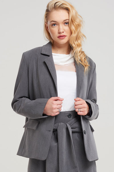 Kiara Simple Long Blazer-2 Colors