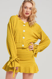 Dandelion Striped Two-Piece Set-2 Colors