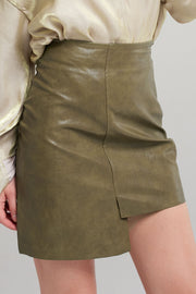 storets.com Nicki Uneven Pleather Skirt-2 Colors