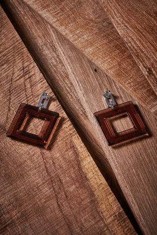 Square Ceramic Earrings