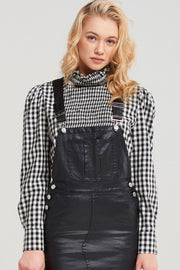 storets.com Taylor High Neck Gingham Blouse