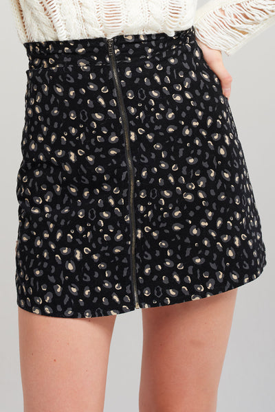 Anja Pop Print Zipper Skirt