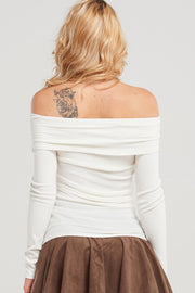 Minka Ribbed Knit Cross Top-2 Colors