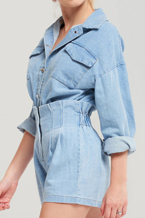 Michelle Washed Out Denim Set